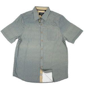 Nat Nast Mens Casual Shirt Medium Button Front NEW